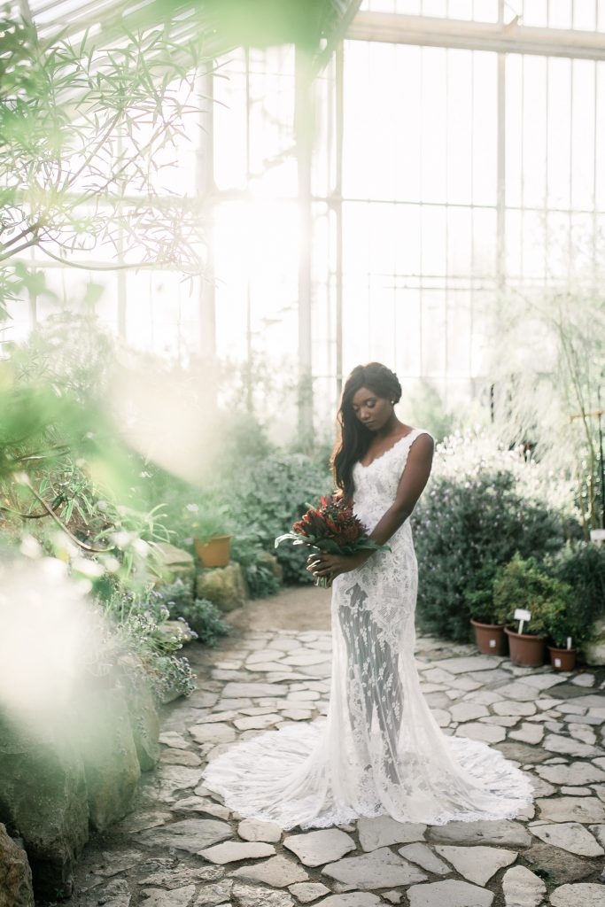 Brautstyling Ideen - Botanischer Garten Berlin